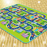 Мягкий детский коврик развивающий город дорога. 2м*1.6м, фото 3
