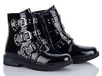Лаковые стильные ботинки на девочку весна/осень Clibee-Apawwa