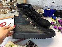 Женские ботинки криперы, демисезонные из натуральной кожи