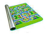 Мягкий детский коврик развивающий город дорога. 2м*1.6м, фото 8