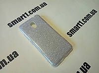 Блестящий силиконовый чехол Shine для Meizu M5C серебро и золото