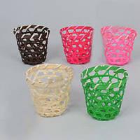 Кашпо стакан цветной бамбуковое