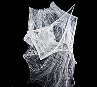 Паутина с пауками (100гр) белая, фото 1