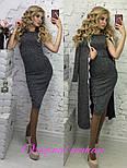 Модный комплект платье-миди и кардиган с кружевом (в расцветках), фото 4