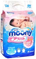 Подгузники Moony NB (0-5 кг), 90 шт