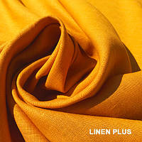 Горчичная льняная ткань 100% лен, цвет 488