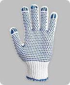 Перчатки рабочие трикотажные с ПВХ точкой (4 нити)