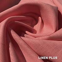 Льняная ткань лосось 100% лен, цвет 990