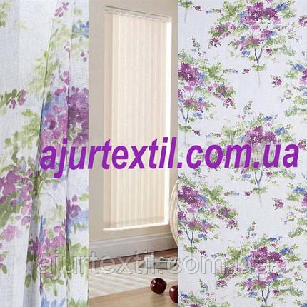 """Тюль лен """"Весна"""" фиолет, фото 2"""