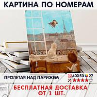 """Картина по номерам """"Пролетая над парижем"""" 40х50 см"""