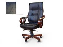 Кресло руководителя Новаро кожа черная