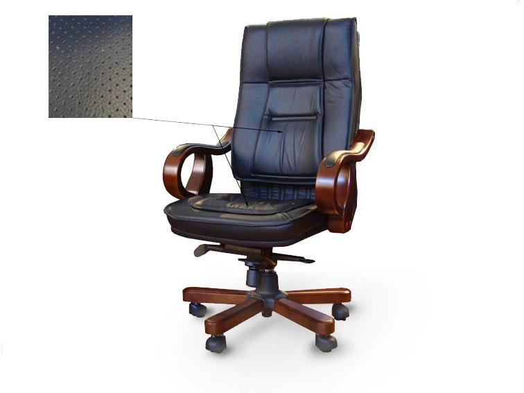 Кресло руководителя Новаро кожа черная - Украинский Стандарт в Харькове