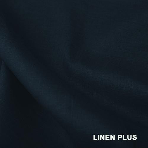 Темно-синя лляна тканина 100% льон колір 999