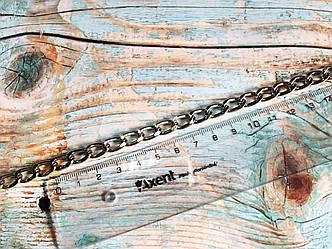 Цепочка ручка для сумки цвет серебро, размер 2х14х9 мм