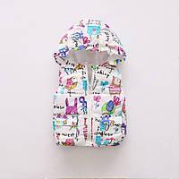 Жилетка детская теплая с капюшоном для девочки