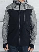 Молодежная Мужская куртка, осеняя  Staff first black черная, демисезонная, удлиненная с капюшоном, осень-весна