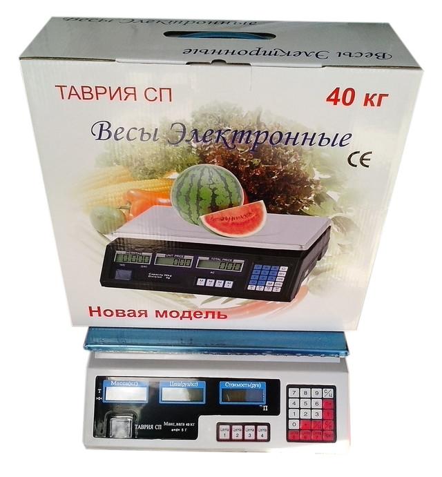 Весы торговые Таврия ACS-40 кг, купить весы торговые, электронные весы