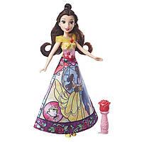 Кукла Белль принцесса сказочная волшебная юбка Дисней Disney Princess Belle's Magical Story Skirt Hasbro B6850
