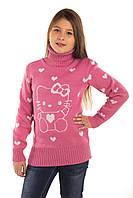 Вязаная туника для девочки Кэт розовый
