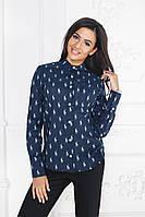 """Стильная женская рубашка """"Polo"""" с принтом и длинным рукавом (3 цвета)"""