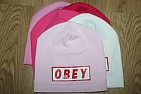 Детская трикотажная шапка для девочек (можно разные цвета)