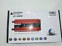 Преобразователь UKC  авто инвертор 12V-220V LCD KC-1000 D 1000 Вт с USB цифровой