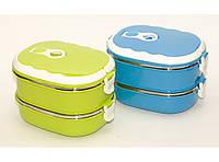 Термос для еды 1.8 л 2 отделения ланч-бокс пищевой, разные цвета
