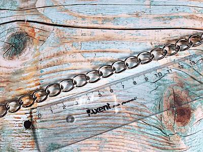 Цепочка для сумки, цвет серебро, размер 2х15,5х10,5 мм