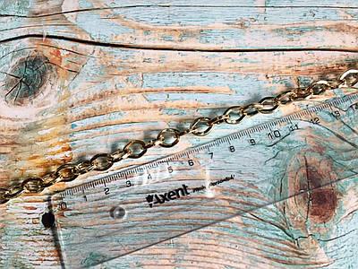 Цепочка для сумки, белое золото, размер 1,2х12х8мм
