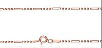 Серебряная цепь бусинка  925 с позолотой 585