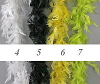 Боа перьевое 2 метра 40 грамм, разные цвета