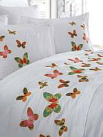 Белое постельное белье с бабочками Dantela Vita Veronica