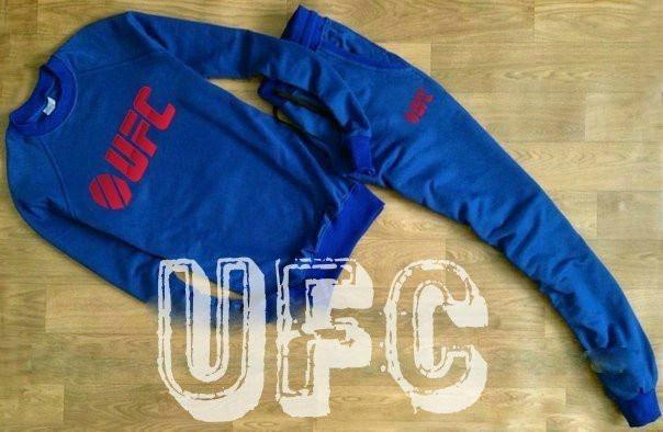 Синий мужской летний тренировочный костюм  UFC(ЮФС)