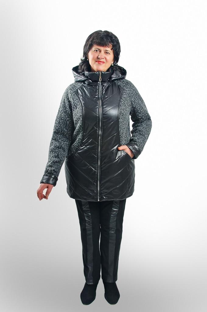 Женская демисезонная куртка (ткань драп)