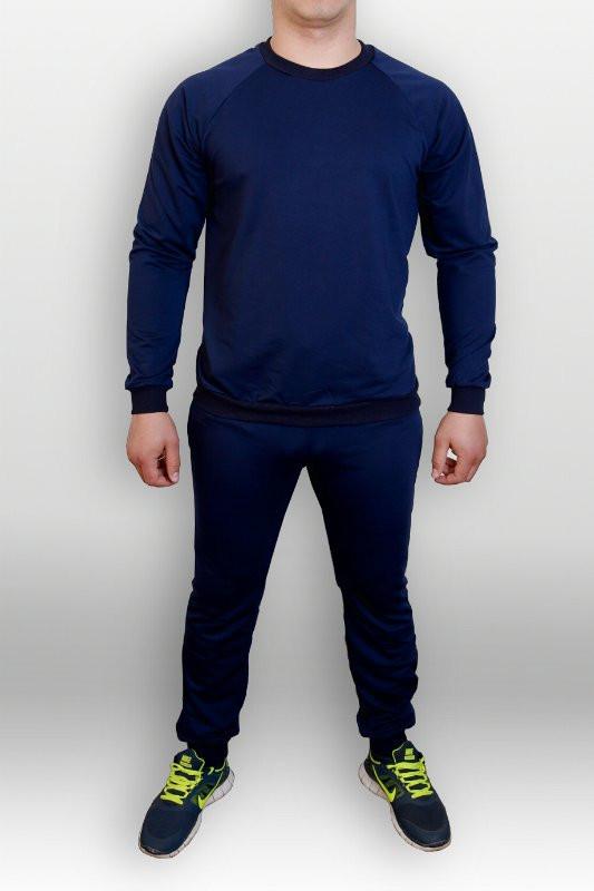Синий мужской летний тренировочный костюм