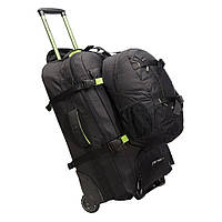 Сумка-рюкзак на колесах Caribee Fast Track 75 Black (комплект)