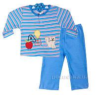 Пижама для мальчика Niso Baby 1043 голубая 74