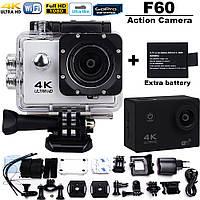 Экшн камера 4K F60В wi-fi, фото 1