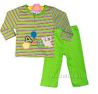 Пижама детская Niso Baby 1043 зеленая 68
