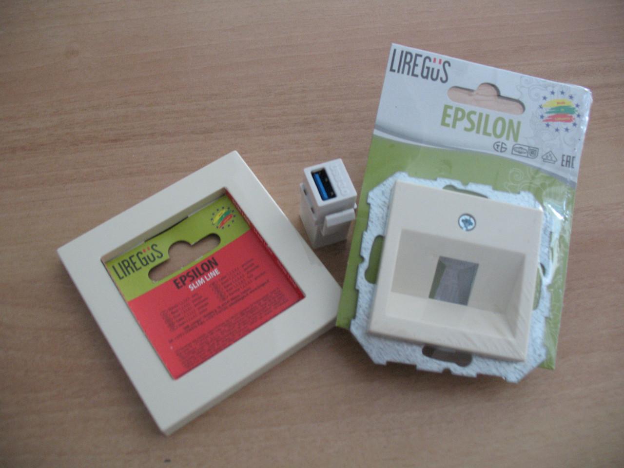 Розетка USB, слоновая кость, Epsilon