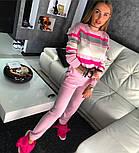 Женский стильный вязаный костюм: пуловер/свитер и брюки (4 цвета), фото 2
