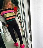 Женский стильный вязаный костюм: пуловер/свитер и брюки (4 цвета), фото 6