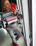 Женский стильный вязаный костюм: пуловер/свитер и брюки (4 цвета), фото 8