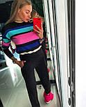 Женский стильный вязаный костюм: пуловер/свитер и брюки (4 цвета), фото 10