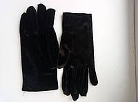Перчатки женские трикотажные велюровые