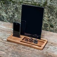 Подставка для телефона и планшета из дерева Офисный набор