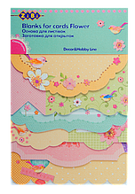 """Заготовка для открыток """"flower"""" 10.2*15.3см zb.18217-af"""