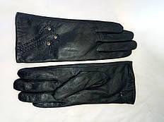 Рукавички жіночі з натуральної шкіри на плюше