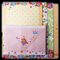 Заготовка для открыток zibi zb.18220-ad с цветными конвертами flight 10.5*14.8см