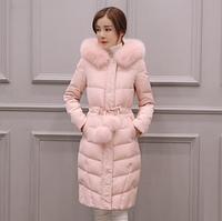 Элегантное женское пальто-пуховик. Зимняя модель с капюшоном. Модель 62135
